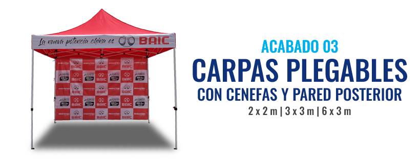 Carpa publicitaria con pared full color